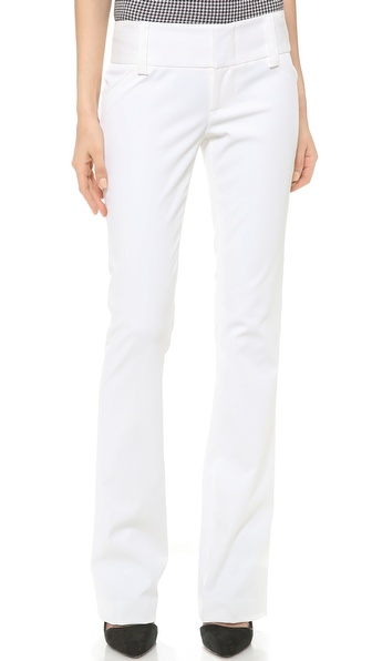 Alice + Olivia Olivia Wide Waistband Pants - White at Shopbop / East Dane