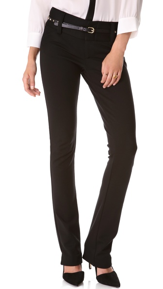 Alice + Olivia Andrew Wide Waistband Pants - Black at Shopbop / East Dane