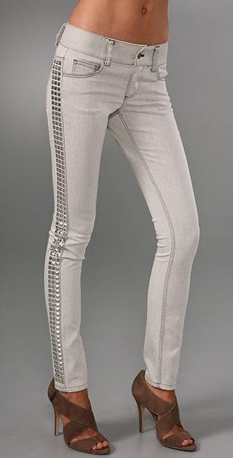 alice + olivia Studded Skinny Jeans