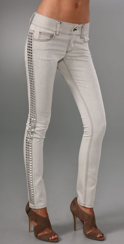 alice + olivia Studded Skinny Jeans