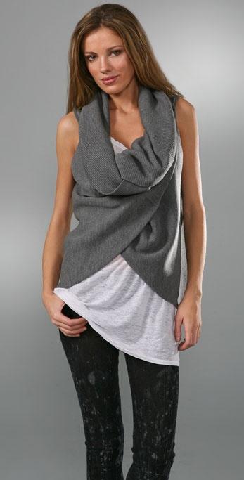 alice + olivia Asymmetrical Knit Vest