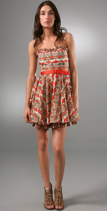 alice + olivia Savannah Art Deco Dress