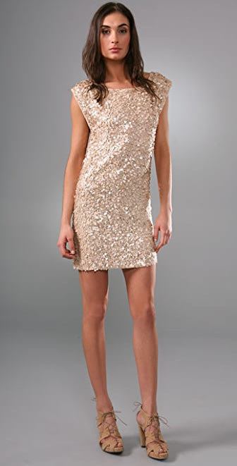 alice + olivia Casey Cluster Sequin Dress