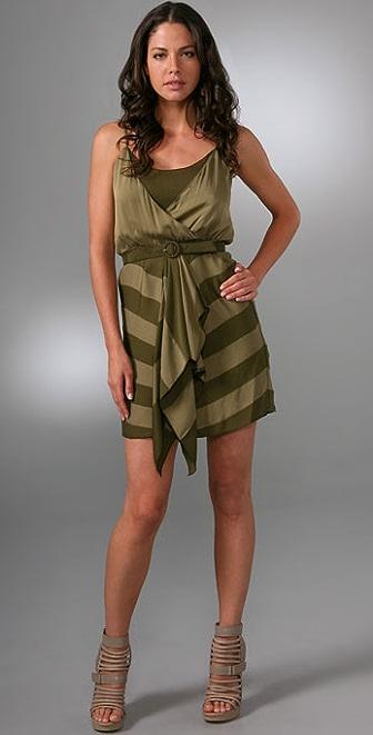 alice + olivia Karilyn Faux Wrap Dress with Belt