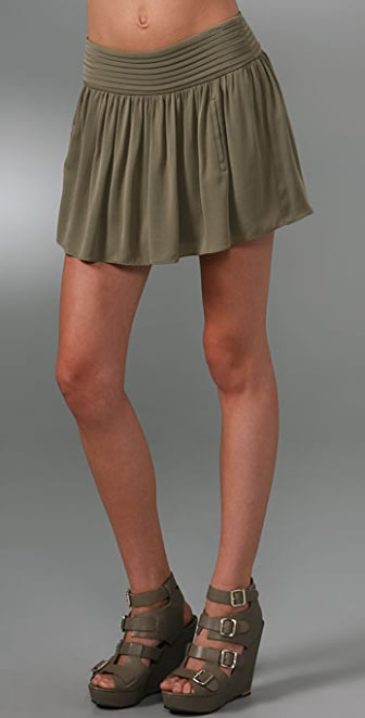 alice + olivia Miniskirt with Pleated Waistband
