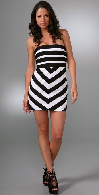 alice + olivia Robin Ribbon Stripe Dress