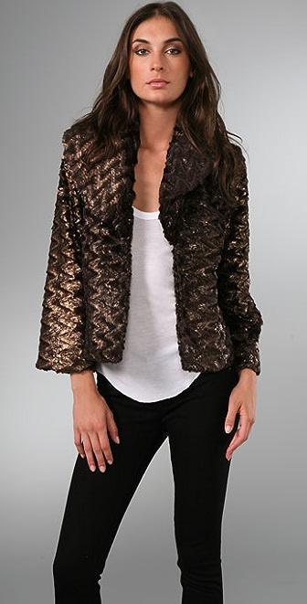 alice + olivia Masha Faux Fur Jacket