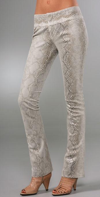 alice + olivia Faux Snakeskin Pants