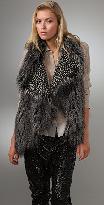 alice + olivia Chris Faux Fur Vest