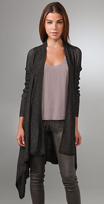 alice + olivia Ash Ribbed Long Cardigan