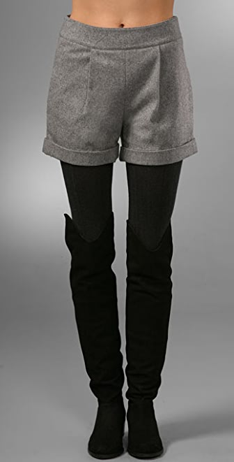 alice + olivia Back Zip Shorts