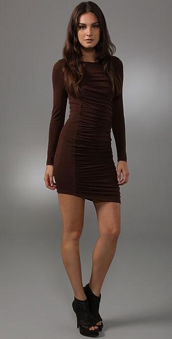 alice + olivia Gretta Long Sleeve Dress