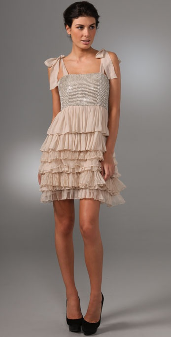 alice + olivia Marianna Rhinestone Dress