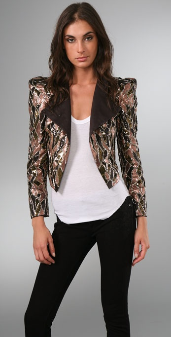 alice + olivia Luiza Embellished Jacket
