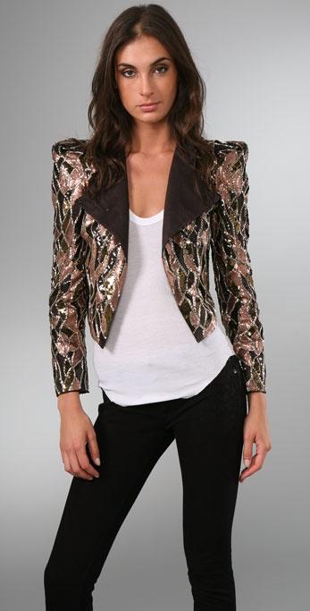 alice + olivia Luiza Embellished Jacket