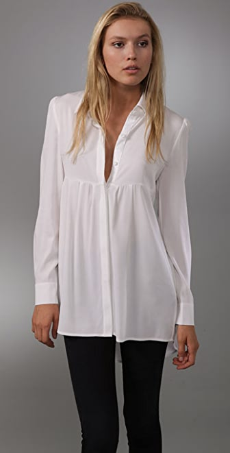 alice + olivia Long Sleeve Button Down Tunic