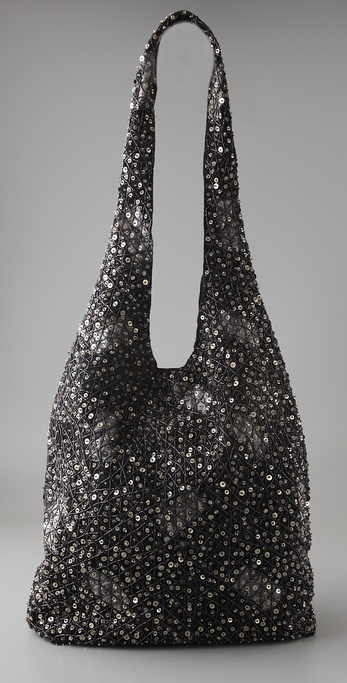alice + olivia Sequin Hobo Bag