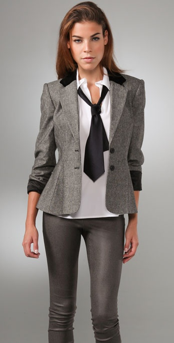 alice + olivia Hunter Peplum Blazer