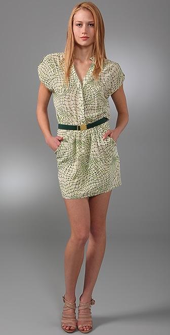 alice + olivia Abbie Belted Dress