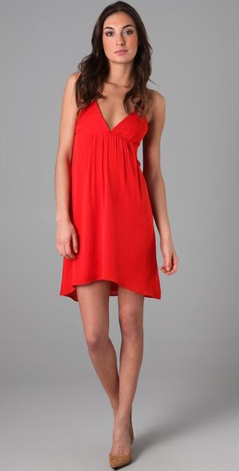 alice + olivia Demi Drape Back Flutter Dress