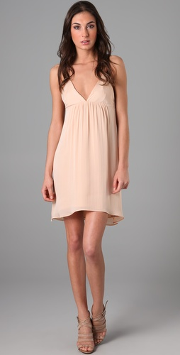 alice + olivia Demi Drape Back Flutter Dress