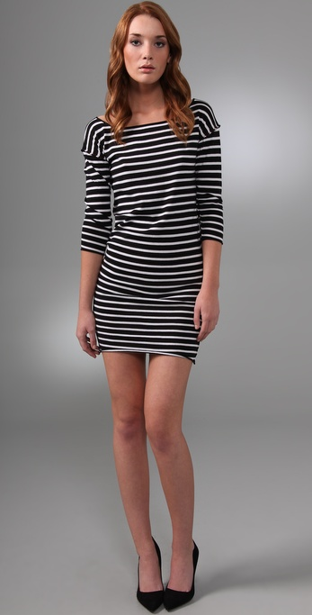 alice + olivia Sabrina Striped Dress
