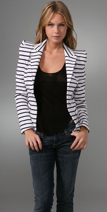 alice + olivia Sage Striped Blazer