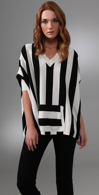 alice + olivia Kayden Striped Sweater