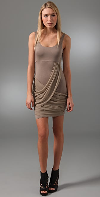 alice + olivia Tank Dress with Draped Skirt