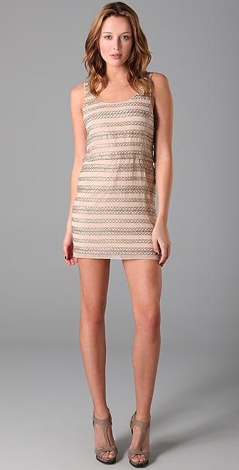 alice + olivia Gabby Beaded Tank Dress