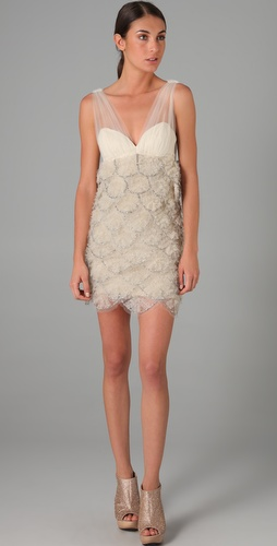alice + olivia Brianne Embellished Dress
