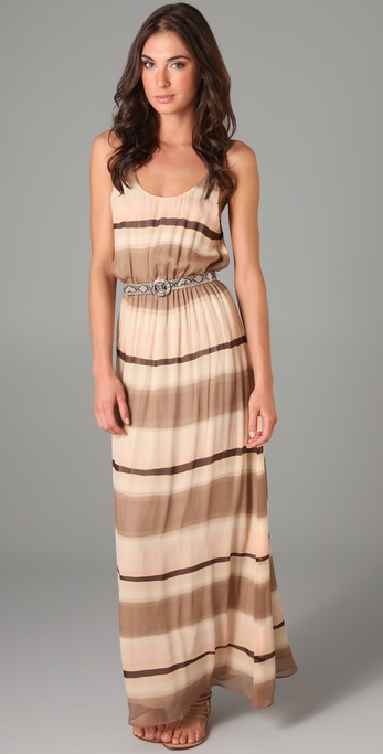 alice + olivia Jill Blouson Long Dress