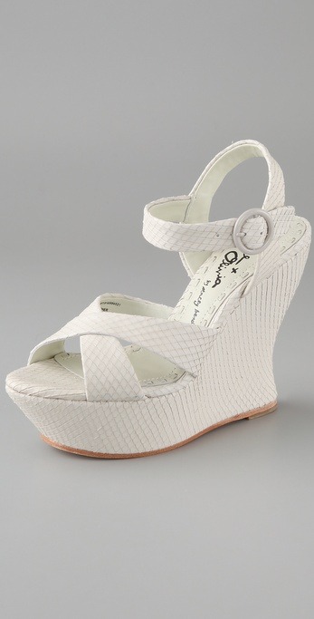 alice + olivia Juliet Wedge Sandals