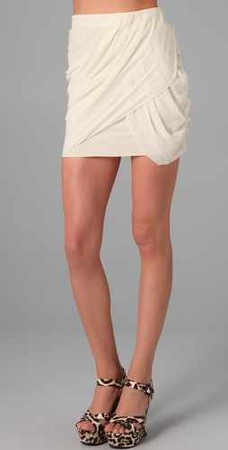 alice + olivia Paige Draped Skirt