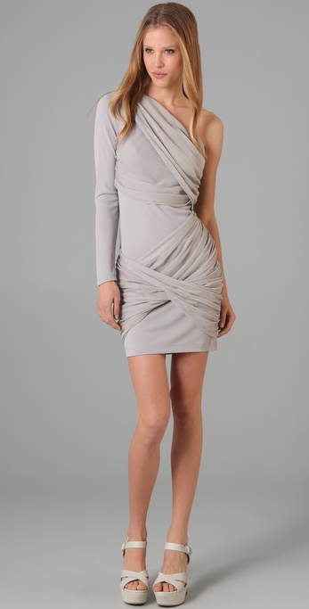 alice + olivia One Sleeve Goddess Dress