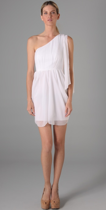 alice + olivia Kellye One Shoulder Dress