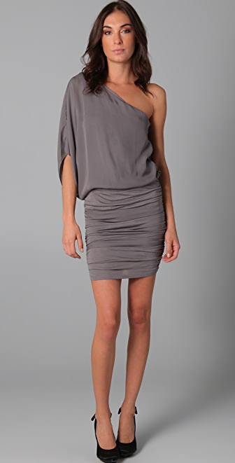 alice + olivia One Shoulder Ruched Dress