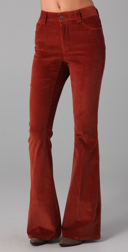 alice + olivia Corduroy High Waist Flare Pants