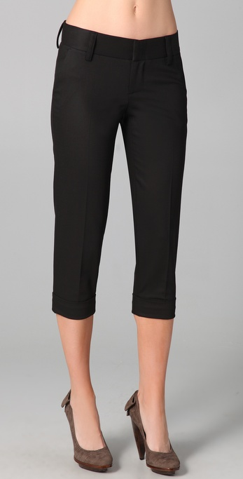 alice + olivia Stacey Cropped Skinny Pants