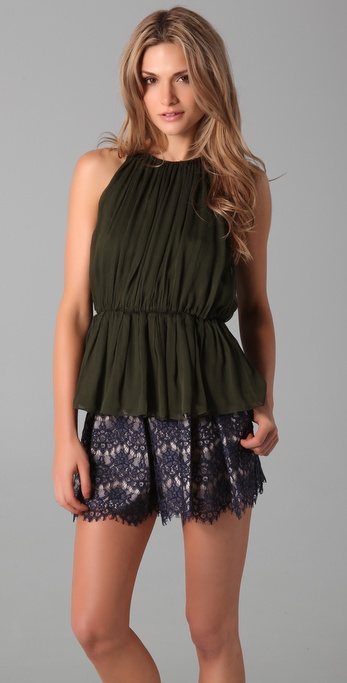 alice + olivia Mayra Sleeveless Top