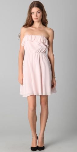 alice + olivia Ashton Ruffle Top Blouson Dress