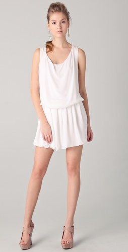alice + olivia Felipa Draped Mini Dress