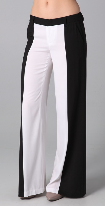 alice + olivia Wide Leg Side Panel Pants