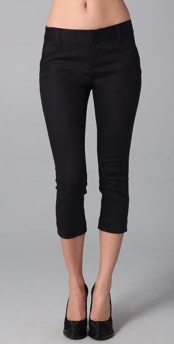alice + olivia Stacey Slim Cropped Pants