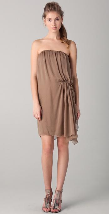 alice + olivia Twist Strapless Dress