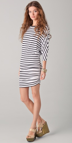 alice + olivia Salem Striped Dolman Dress