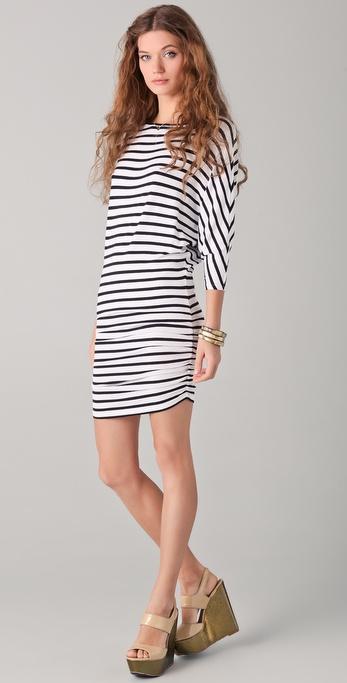 alice + olivia Salem Striped Dolman Dress