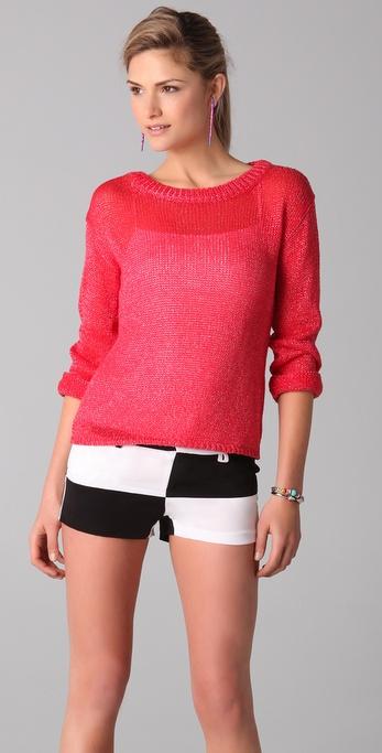 alice + olivia Ethan Boxy Sweater