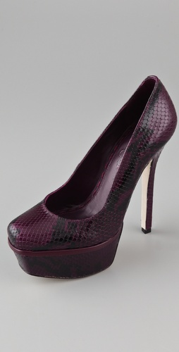 alice + olivia Bethie Snake Platform Pumps