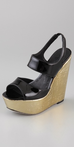 alice + olivia Savannah Platform Wedge Sandals